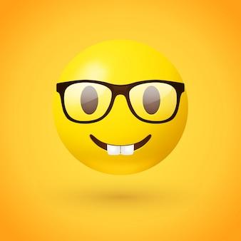 Emoji twarzy nerd