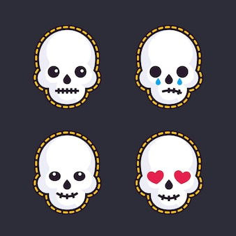 Emoji z czaszkami