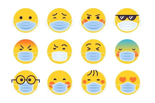 Emoji z pakietem masek na twarz