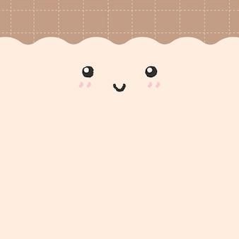 Emotikon tło wektor ładna uśmiechnięta twarz z miejsca na kopię