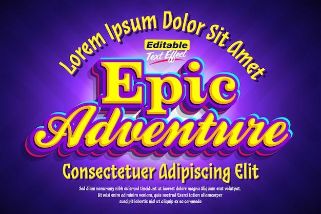 Epic adventure cartoon pop 3d efekt tekstowy