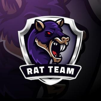 Eport logo z głową szczura