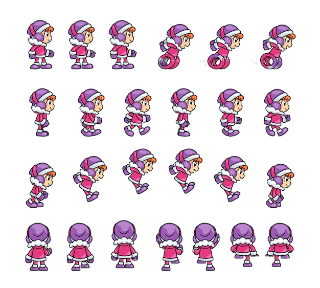 Eskimo girl game sprites