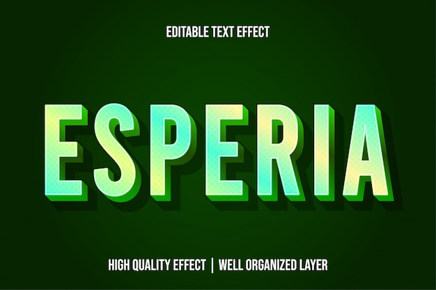Esperia green modern text effect style