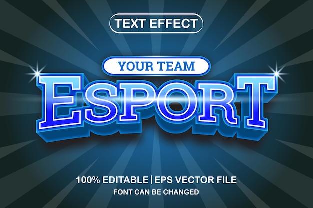 Esport 3d edytowalny efekt tekstowy