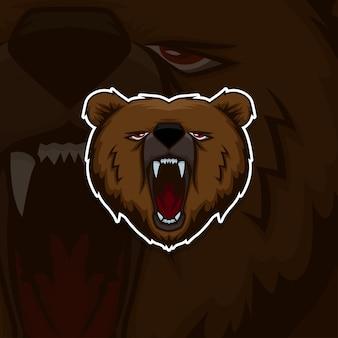 Esport gamer logo bear
