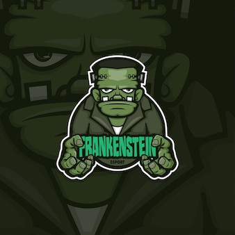 Esport gamer logo frankenstein