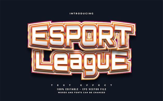 Esport league esportowy efekt stylu tekstu