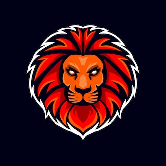 Esport lion head logo gra drużynowa