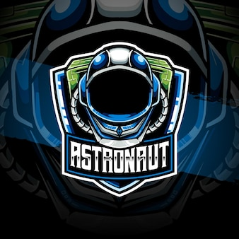 Esport logo ikona postaci astronauty
