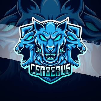Esport Logo Ikona Postaci Cerberusa Premium Wektorów