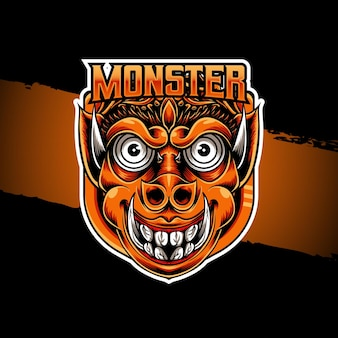 Esport logo ikona postaci potwora