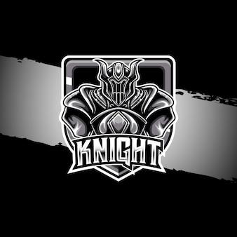 Esport logo ikona postaci rycerza