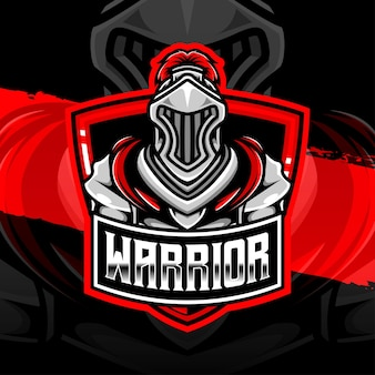 Esport logo ikona postaci wojownika