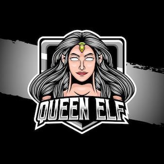 Esport logo ilustracja postać elfa