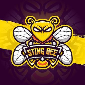Esport logo ilustracja żądło beecharakter ikona