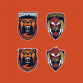 Esport logo zwierząt