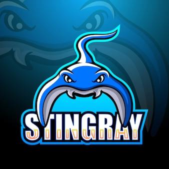 Esport maskotka stingray
