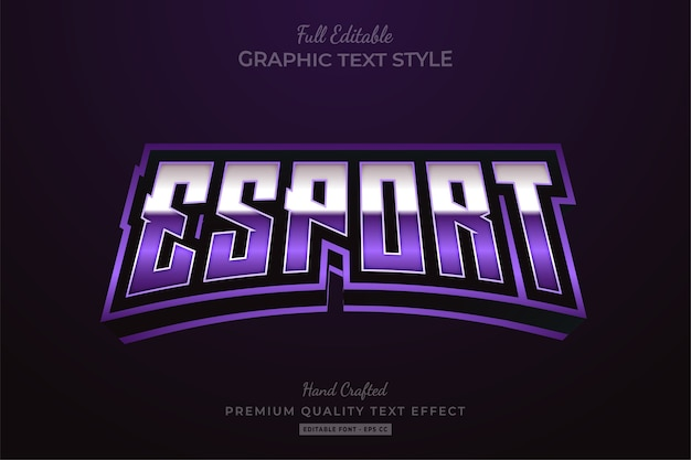 Esport purple editable text style effect premium