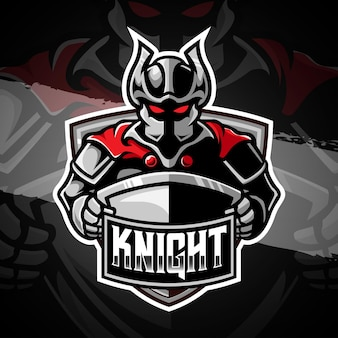 Esport rycerz logo ilustracja postaci ikona
