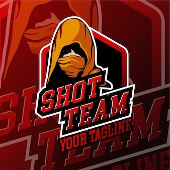 Esport shot gaming logo odznaki