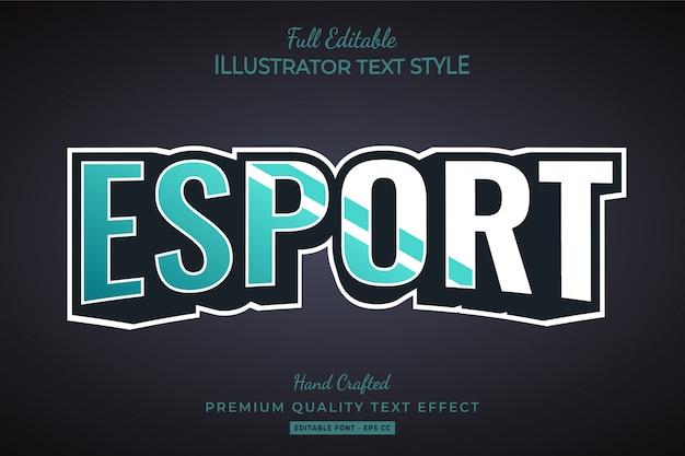 Esport styl tekstu efekt premium
