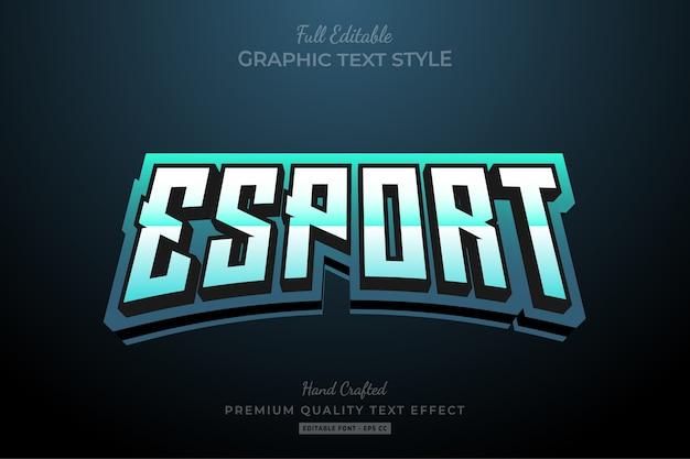 Esport team gradient edytowalny efekt tekstowy premium