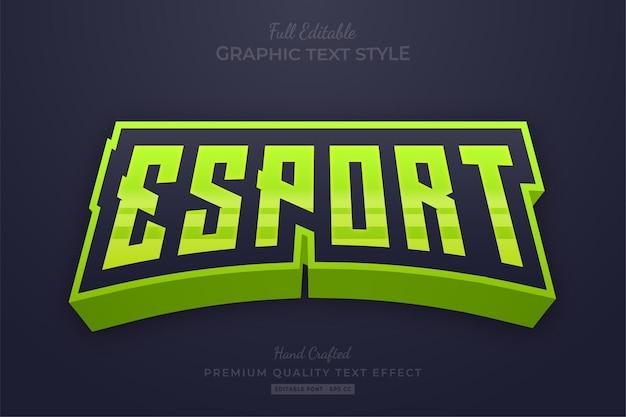 Esport team lime green edytowalny styl czcionki z efektem tekstowym