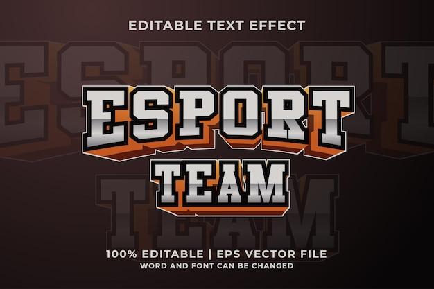 Esport team logo efekt tekstowy premium wektor