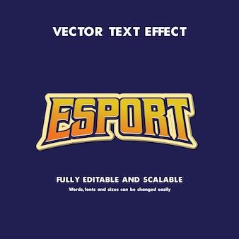 Esportowy efekt tekstowy edytowalny dla esportu