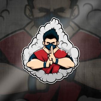 Esports mascot logo ninja squad