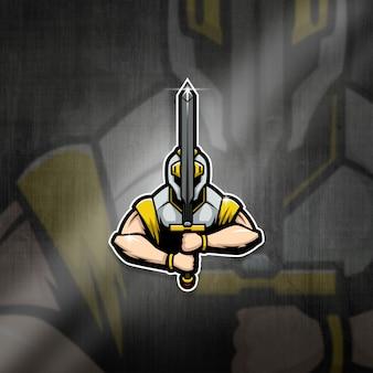 Esports mascot logo team knight squad