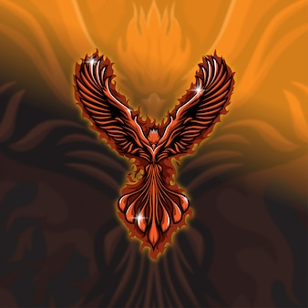 Esports mascot logo team phoenix squad