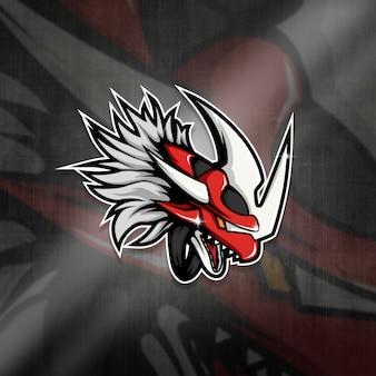 Esports mascot logo team red dragpon squad
