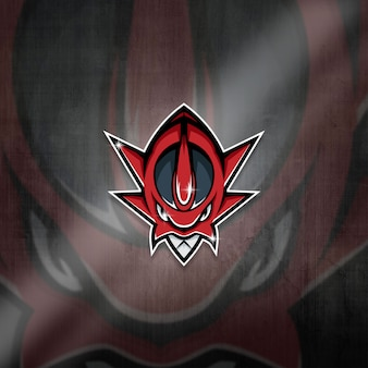 Esports mascot logo team red monster squad