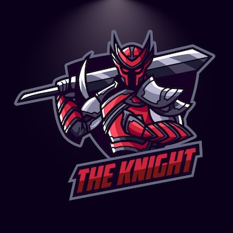 Esports red knight logo