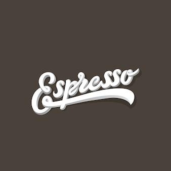 Espresso napis kaligraficzna kompozycja vintage