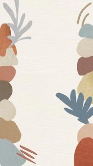 Estetyczna ramka mobilna tapeta tło wektor, abstrakcyjny wzór