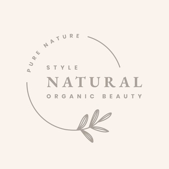Estetyczny logo szablon biznesowa odznaka, naturalny wektor projektu marki