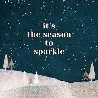 Estetyczny świąteczny szablon postu na facebooku, pozdrowienia dla wektora mediów społecznościowych