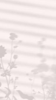 Estetyczny telefon tapety tło wektor, cień liścia z naturalnym światłem