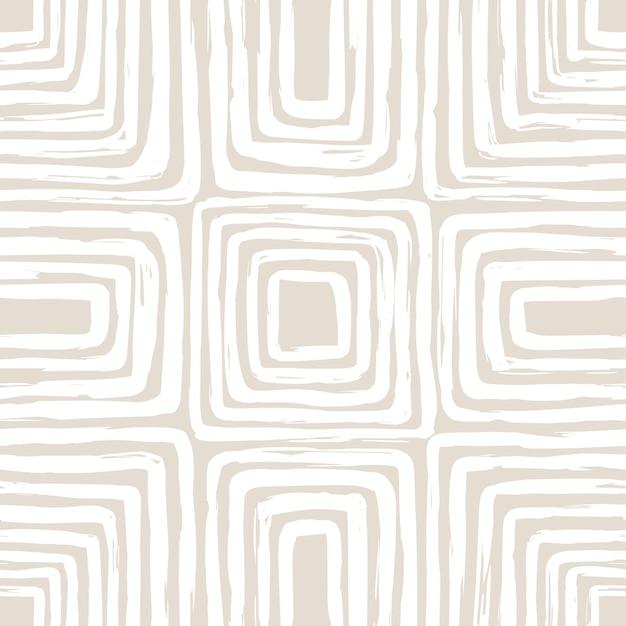 Estetyczny współczesny bezszwowy wzór z organicznymi abstrakcyjnymi kształtami i linią w nagich kolorach pastelowe tło boho w minimalistycznym stylu z połowy wieku ilustracja