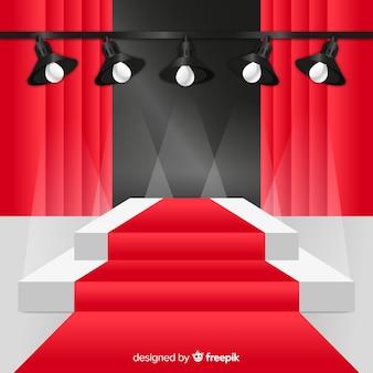 Etap podium tło z oświetleniem