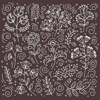 Ethno print dekoracyjna tkanina z ornamentem ludowym