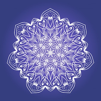 Etniczna fraktalna mandala medytacyjna