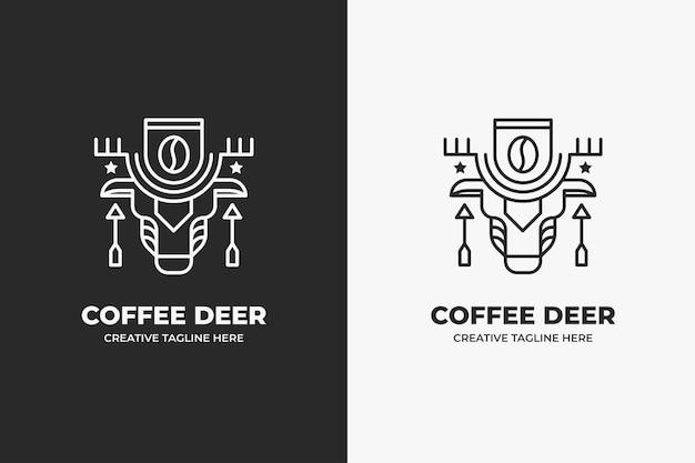 Etniczna kawiarnia monoline logo