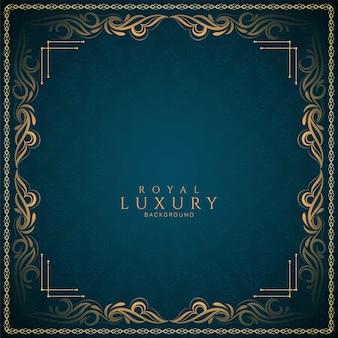 Etniczna luksusowa rama dekoracyjna