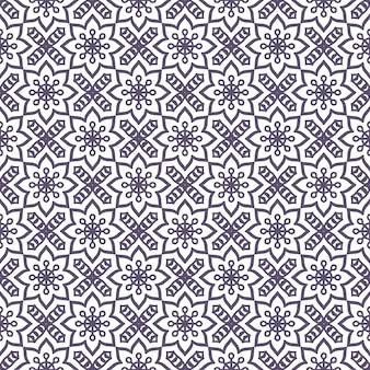 Etniczne kwiatowy wzór z mandali