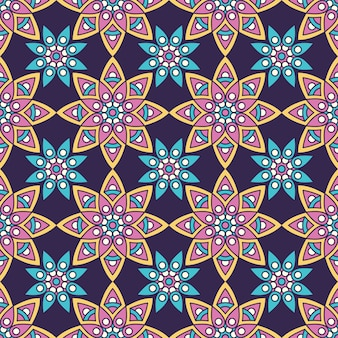 Etniczne kwiatowy wzór