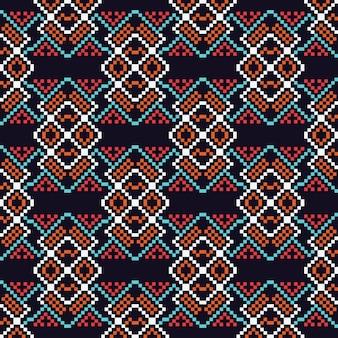 Etniczne projektowanie graficzne ozdoba streszczenie szwu
